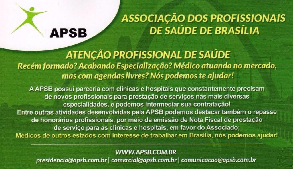 APSB – ASSOCIAÇÃO DOS PROFISSIONAIS DE SAÚDE DE BRASÍLIA